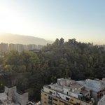 Vista do Cerro de Santa Lúcia do Quarto do Apartamento