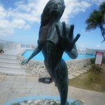 Famous Mermaid statue at Sunset House Amphitrite