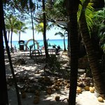 view from hammock on beachside Villa #27