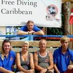 Het team van Free Diving Caribbean
