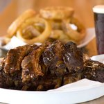 Ribs, Onion Rings, and a cold beer
