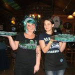 Seahawk colors Jell-O Shots for Super Bowl Sunday!