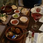 5 Tapas Dishes, 3 Dips and 4 Cocktails
