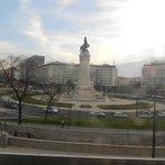 Vista da praça Marquês de Pombal