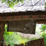 Flower Bud Bungalows - Uluwatu Bali Indonesia - Balangan Beach - entrance