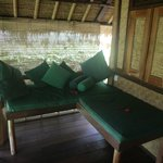 Flower Bud Bungalows - Uluwatu Bali Indonesia - Balangan Beach - bungalow patio