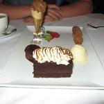 "the ""chocolate chocolate chocolate"" dessert"
