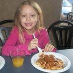 loves the bear pancakes