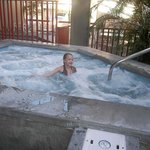 she loved the hot tub