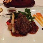 Filet steak with mushroom sauce