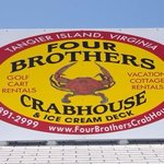 Four Brothers Crabhouse and Icecream Deck sign