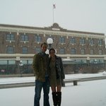 Gorgeous hotel on a snowy day!