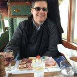 lunch at Golden Pass Line first class