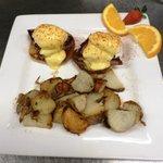 Eggs Benedict served Sat-Sun 10-3