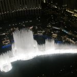 Bellagio fountain show from the Eiffel tower deck