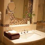 a pretty bathroom