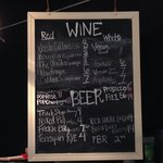 Current Vino and beer selection as of 3 March 2014
