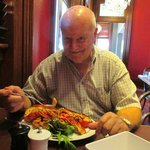 Brian with his lobster