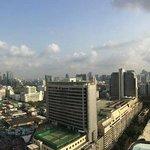Vue panoramique depuis la piscine (depuis la façade de l'hôtel)