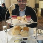 Scone and cake platter.