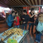 Taste a bread on street