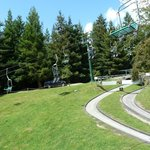 View of chairlift and luge track