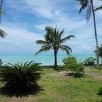 vue du bungalow hôtel Matira Bora Bora