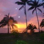 coucher de soleil vu de l'ôtel Matira Bora Bora