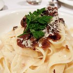 Fettuccine with truffle sauce