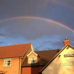 Rainbow over the Pub back in 2013
