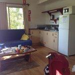 Kitchen/lounge area.