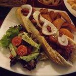 Vegan Chilli Dog & Wedges