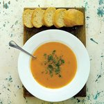 Soup and Homemade Bread at Plymouth Arts Centre Restaurant