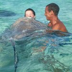 7 years of luck, my daughter and Dwayne and an Eagle ray