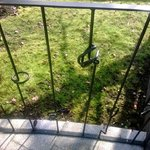 Quirky railings on private patio