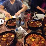 Table of stews! 4 orders for 8 people