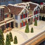 Custom-made gingerbread house