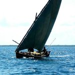 Iconic Swahili Dhow under sail