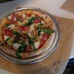Ham and artichoke pizza