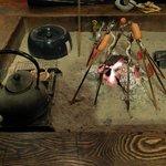 Traditional 'irori' (Japanese sunken cooking hearth)