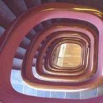 Bonita fotografía de la escalera.