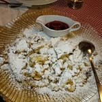 Kaiserschmarren with plum salad