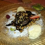 Mohr im Hemd (warm chocolate cake with vanilla icre cream)