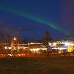 Mosfellsbaer - Northern Lights view from Hotel Laxnes