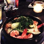 Crispy Rice Pot with Shrimp
