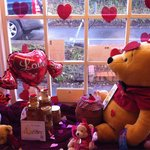 St Valentine's window. Cute but some items were quite dusty.
