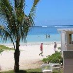 L'entree du beach rouge, le magnifique restaurant de plage