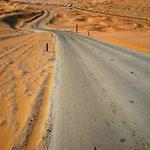 Road through the Empty Quarter to Qasr Al Sarab