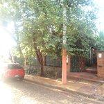 La entrada del hostel