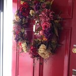 Lovely welcome wreath